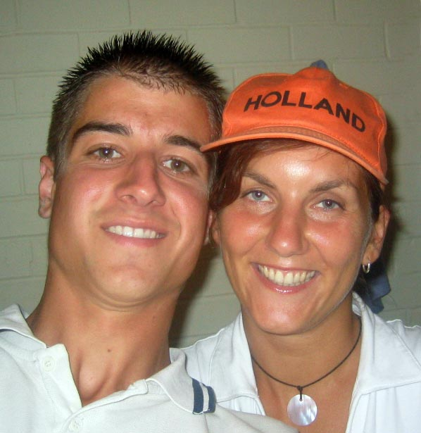 Jan and me in his Oranje hat